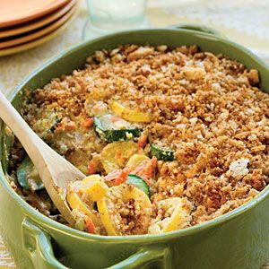 Squash casserole is the most versatile Southern side dish. It pairs well with everything from fried chicken at a summertime Sunday lunch to roast turkey at Thanksgiving.