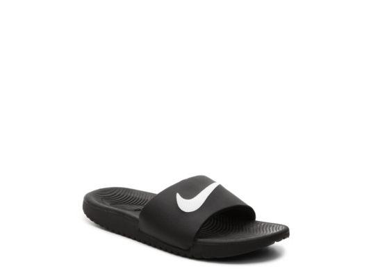 5368091290fa Men s Nike Kawa Boys Toddler   Youth Slide Sandal - Black