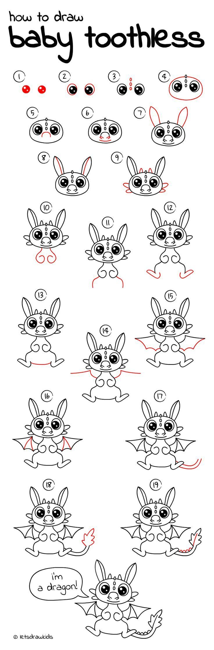 Attractive How To Draw Baby Toothless. Easy Drawing, Step By Step, Perfect For Kids!  Letu0027s Draw Kids. Http://letsdrawkids.com/