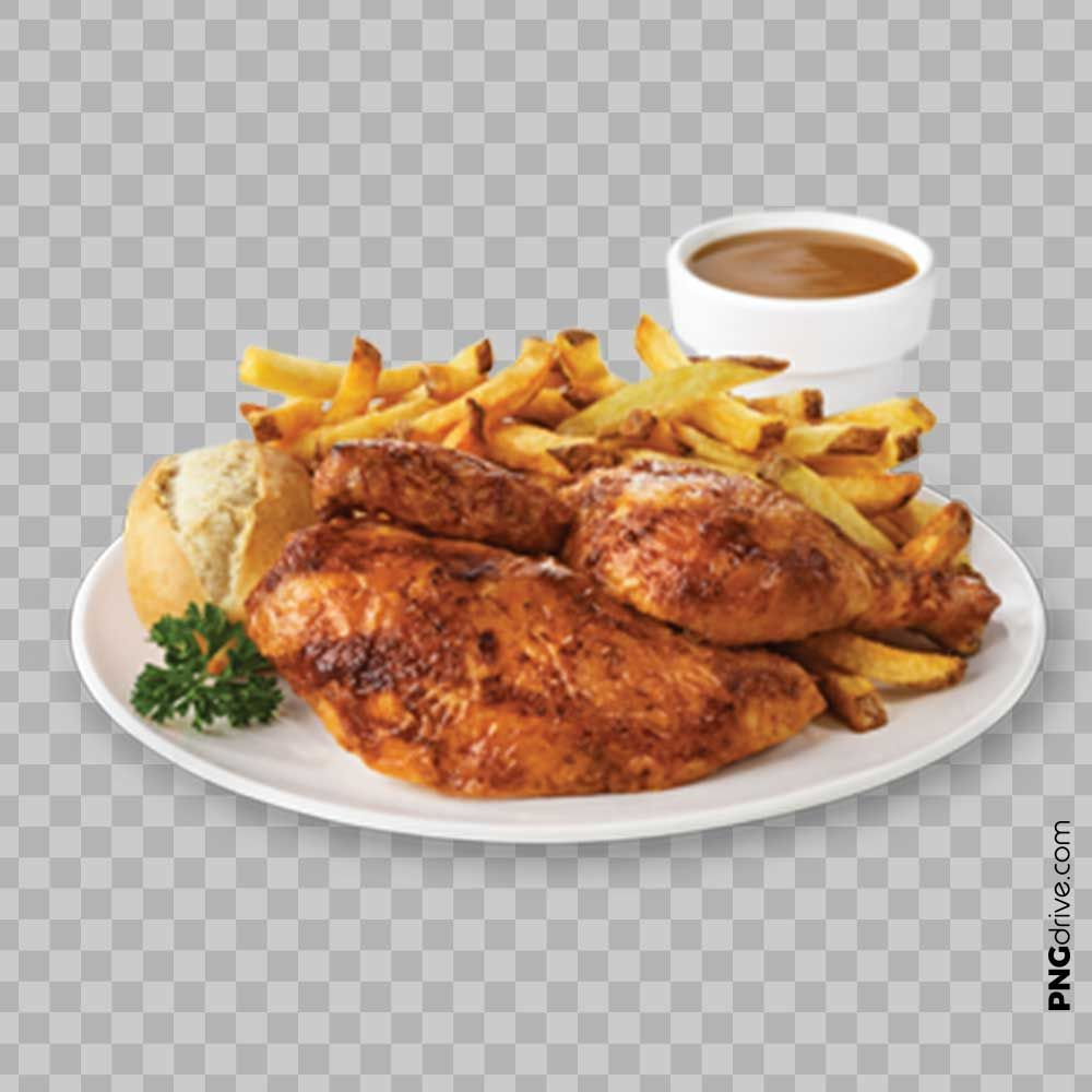 Pin By Png Drive On Chicken Dishes Png Images Chicken Dinner Half Chicken Roast Half Chicken
