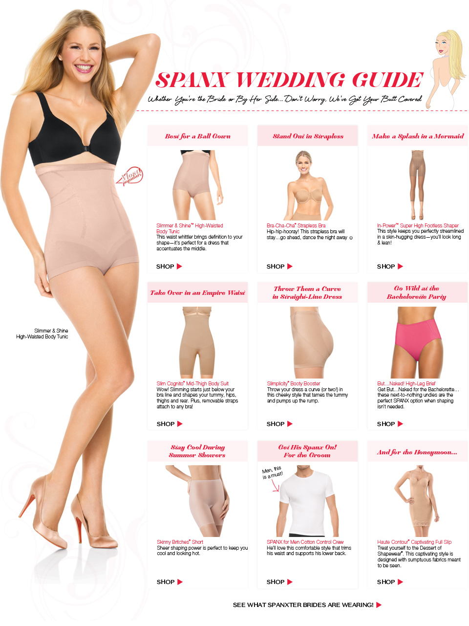 Spanx Store - US  Bridal shapewear, Wedding shapewear, Bridal