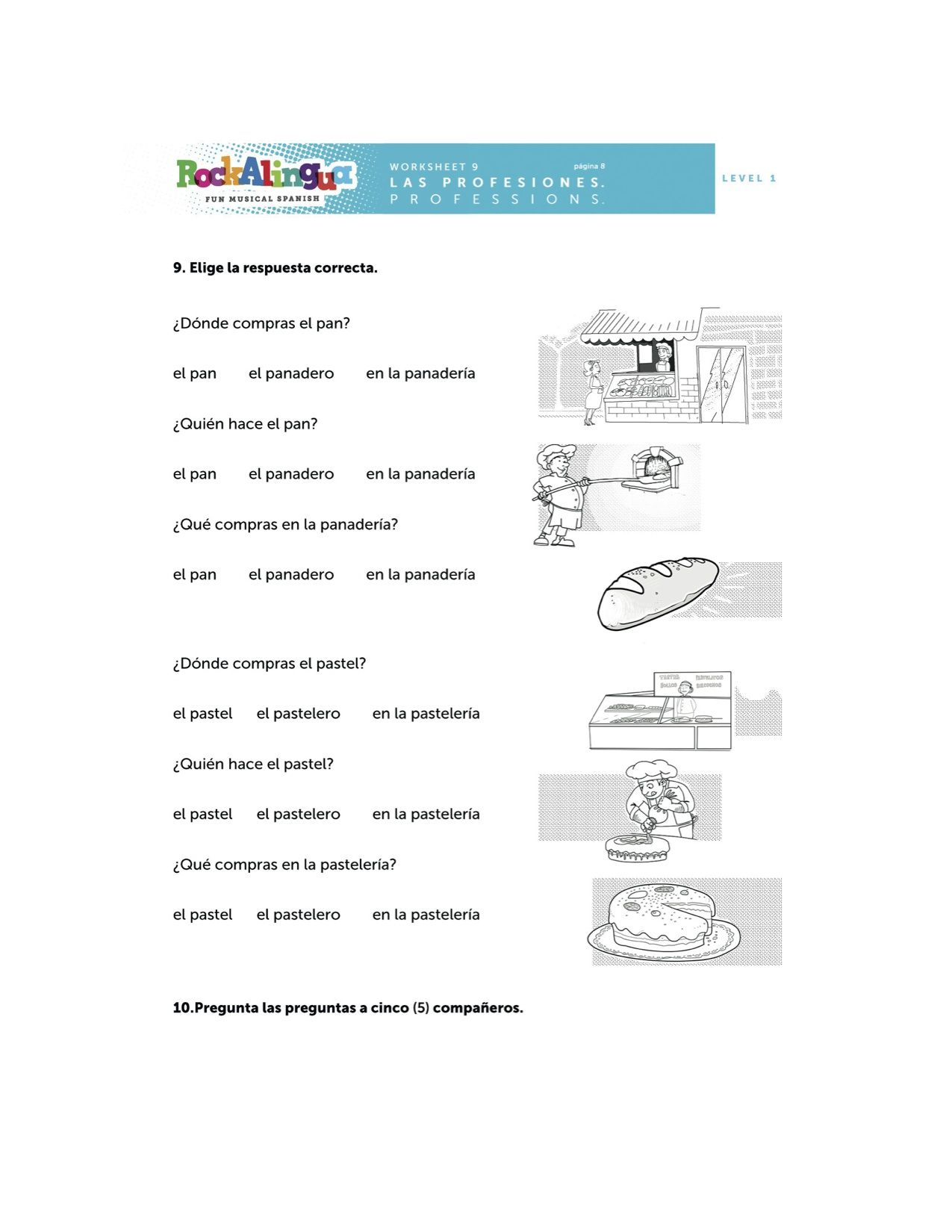 Spanish Songs For Kids Spanish Worksheets For Kids