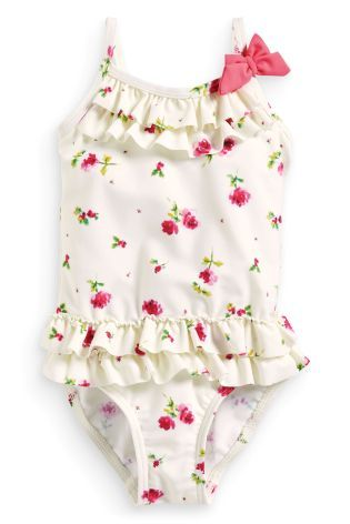 Buy Ecru Rose Swimsuit 3mths 6yrs From The Next Uk Online Shop 11