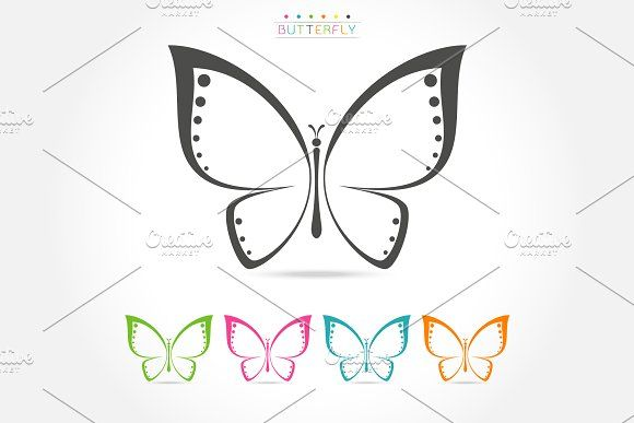 Colorful butterfly logo @creativework247 Templates - Templates