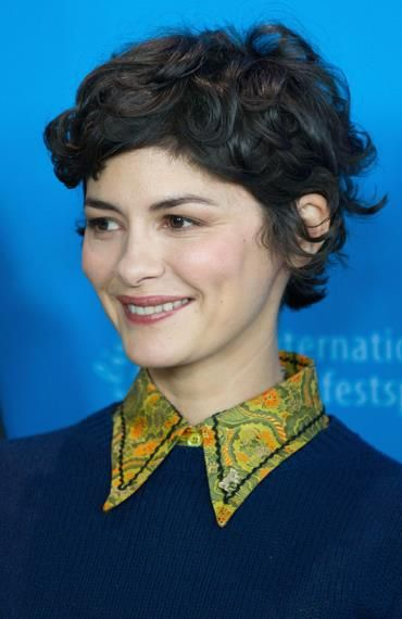 Audrey Tautou Short Curly Hair Short Hair Styles