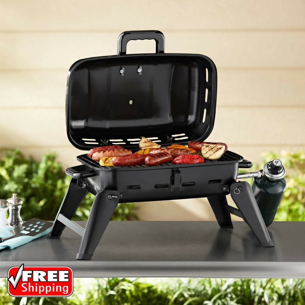 Portable Gas Bbq Grill Tabletop Camping Folding Feet Tailgate Barbecue Picnic Home Garden Yard Garden Outdoor Portable Gas Bbq Gas Bbq Best Gas Grills