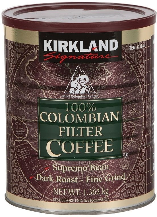 Kirkland Signature 100% Colombian Ground Filter Coffee. 1.362kg Grab this Budget Gift. By Touch2 Is always Bringing Gr… | Coisas para comprar