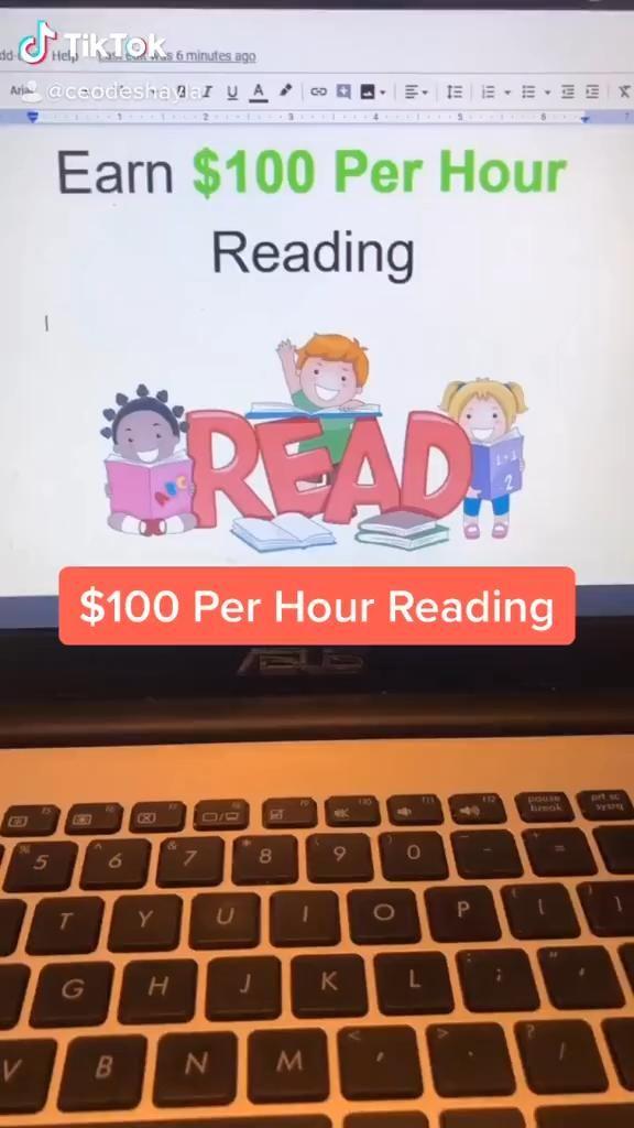 $100 Per Hour Reading