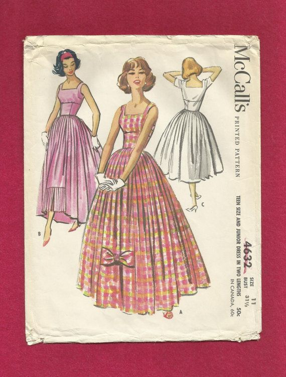 1958 McCall's 4632 Rare Bubble Dress