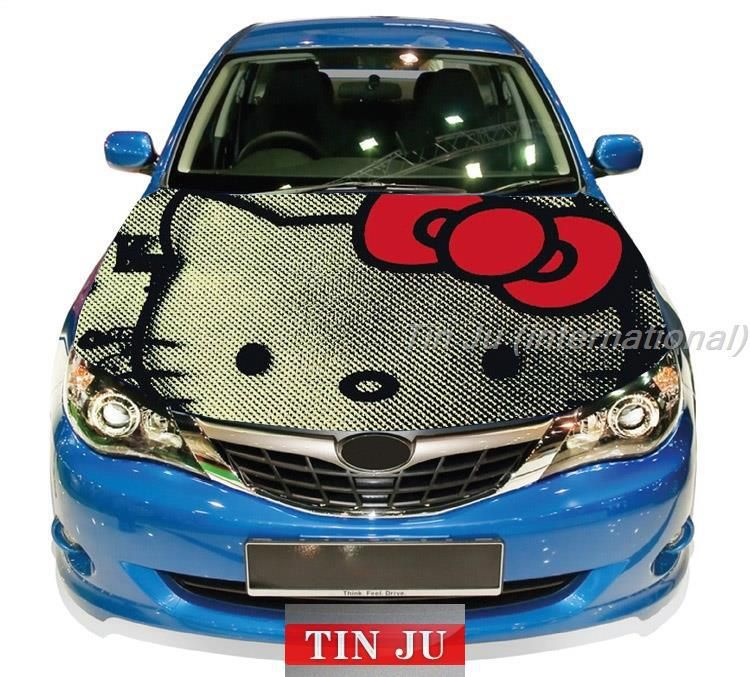Hello Kitty Hood Sticker Hello Kitty Hood Sticker Funny Sticker - Hello kitty custom vinyl decals for car