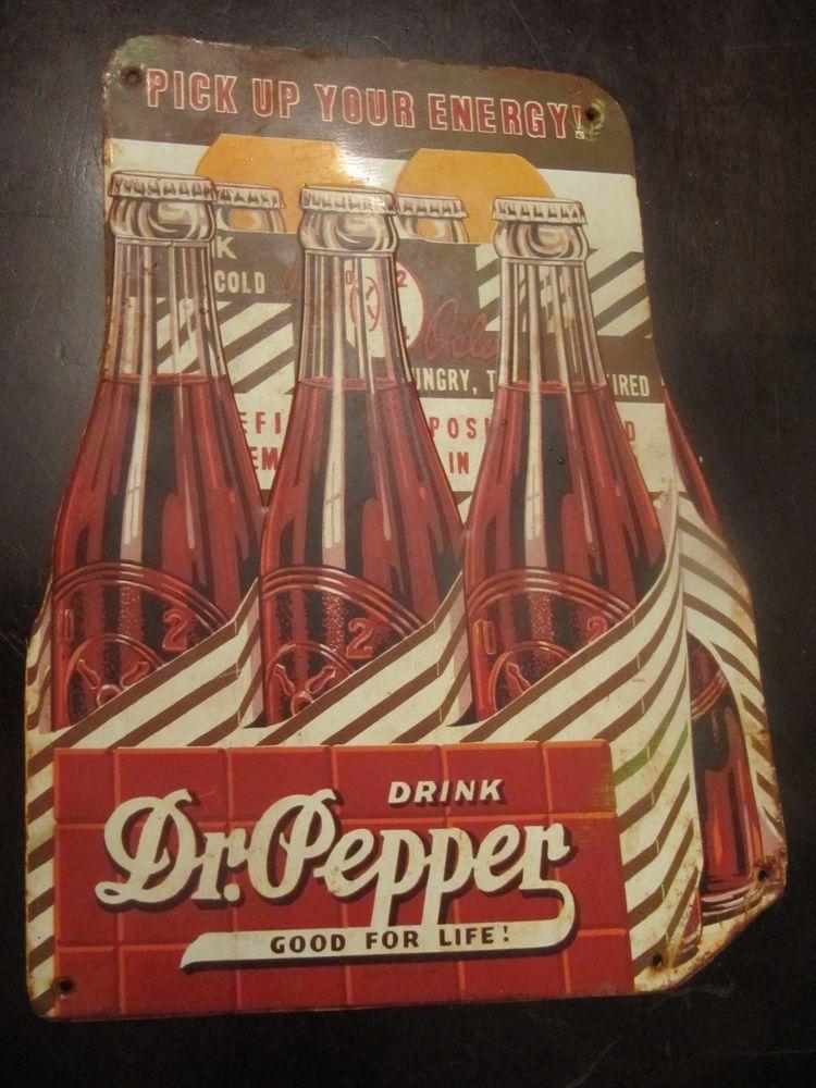 """TIN SIGN /""""Dr Pepper/"""" Vintage Shop Soda Ad Garage Store"""