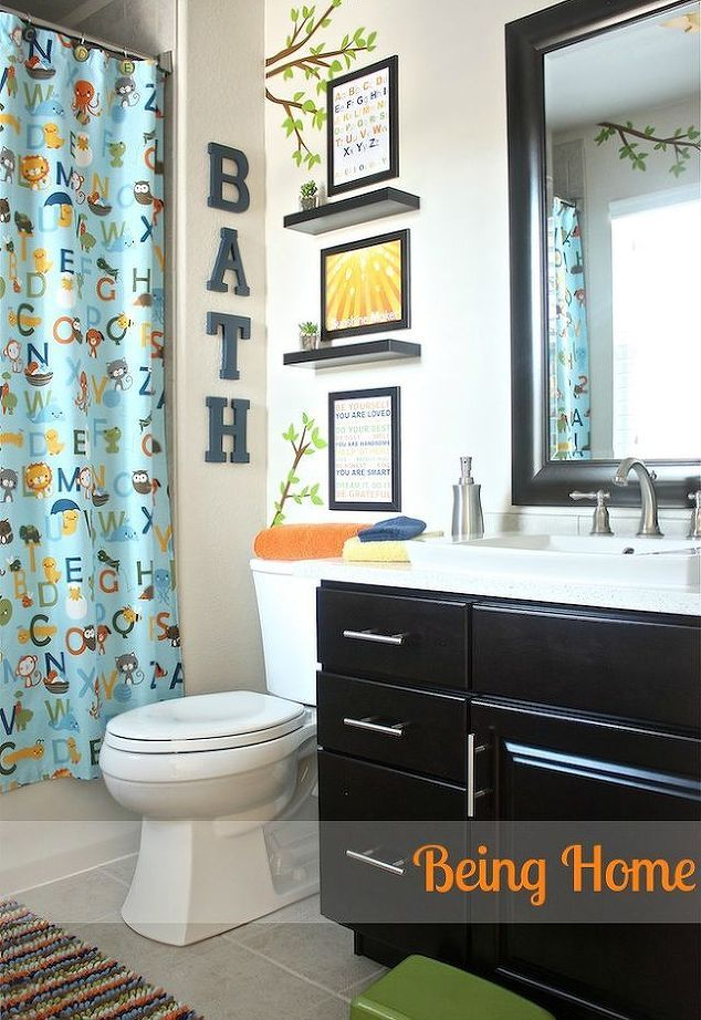 Bathroom Decorating Ideas Kids Small Wall Decor
