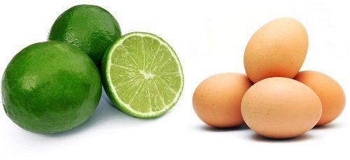 dưỡng trắng da mặt bằng hỗn hợp chanh và trứng gà