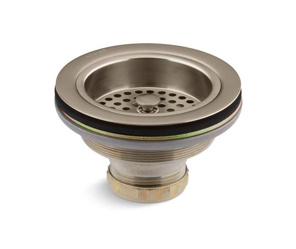 Incroyable Kohler K 8799 Sink Strainer   Less Tail Piece Brushed Bronze Accessory  Basket Strainer