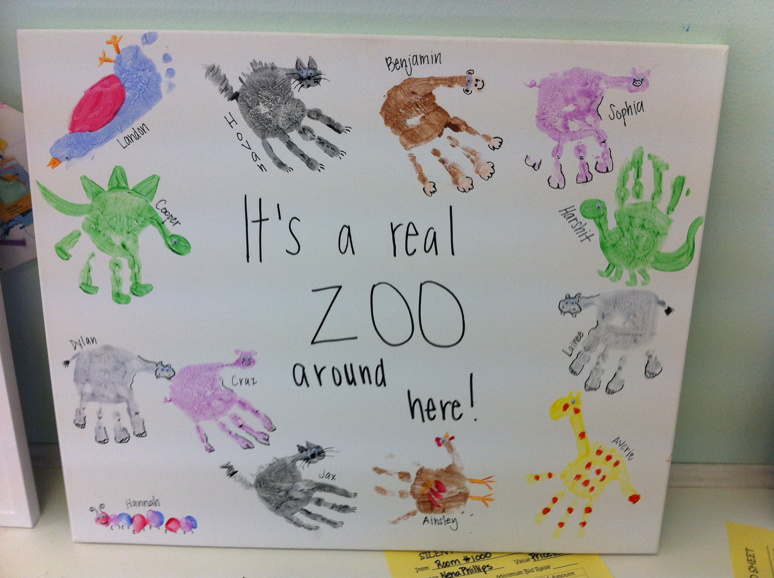 Zoo Animal Hand Prints