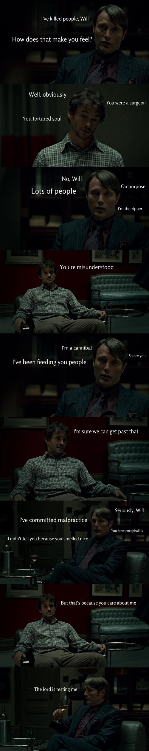 OMG These are too much. Hannibal funnies....Do you ...