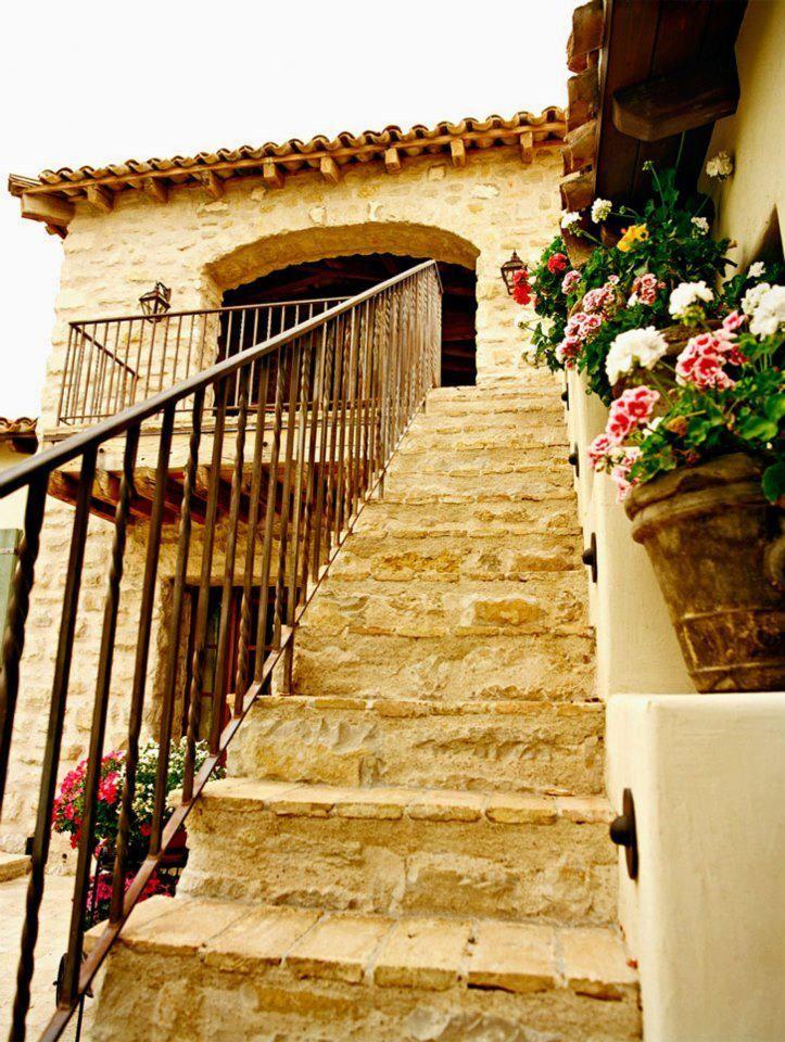 Escaleras rusticas hogar dulce hogar pinterest - Exteriores de casas rusticas ...