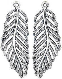 45b084f08 Pandora Silver, Cubic Zirconia Light As A Feather Earring Pendants 290680CZ