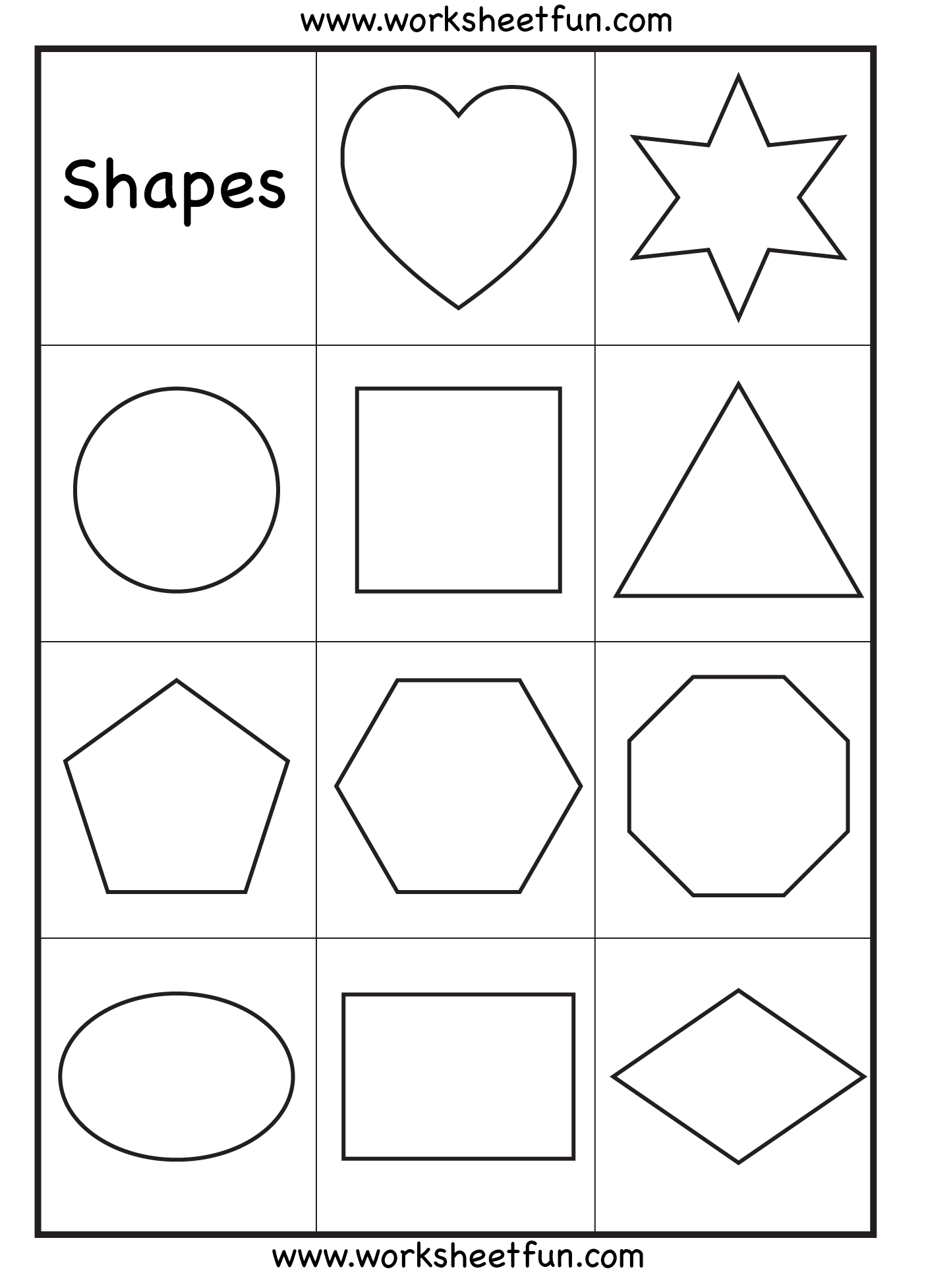 Printables Shapes Worksheets 1000 images about shapes on pinterest circles the shape and preschool worksheets