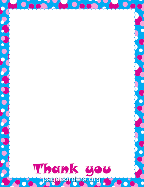Thank You Border Clip Art Page Border And Vector Graphics Borders For Paper Page Borders Design Clip Art