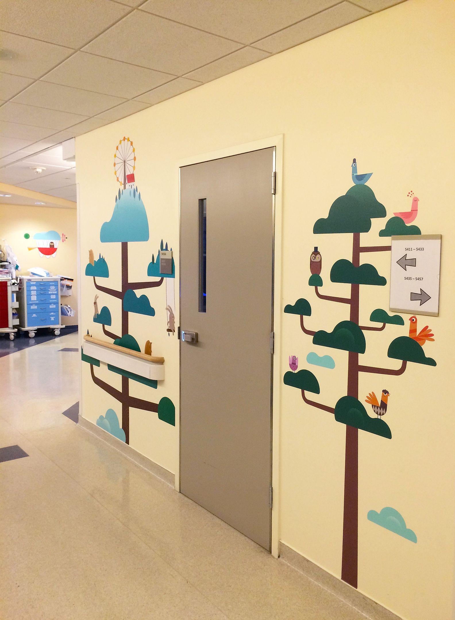 Custom wall mural designed & installed by Blik for the Pediatric ...
