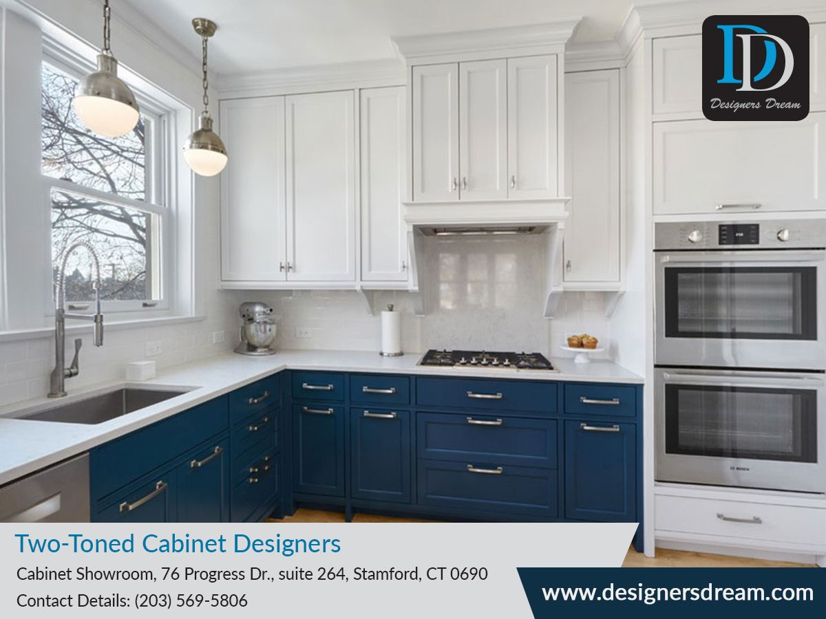 Choosing Only One Color For Your Kitchen Interior May Make It Look Dull And Boring Try Two Toned Kitchen Cabinets To Kitchen Interior Kitchen Cabinets Cabinet