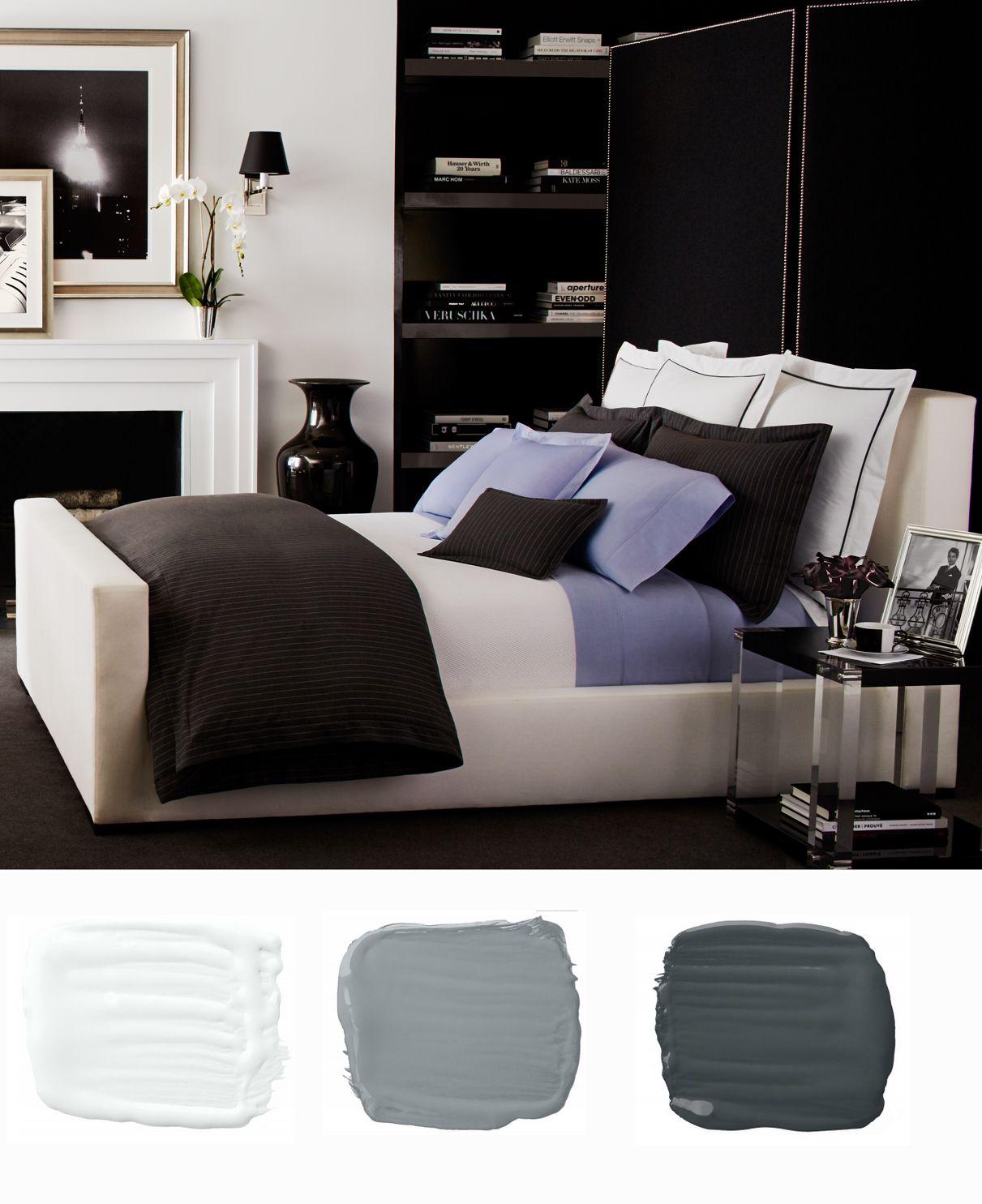 RL bedroom makeover: Gray Haberdashery menswear-inspired bedding ...