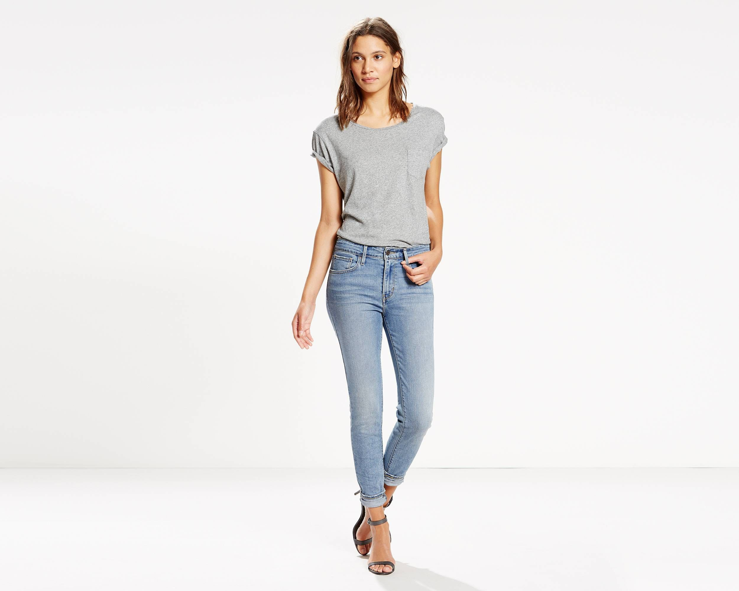 Levi's high rise skinny jeans white