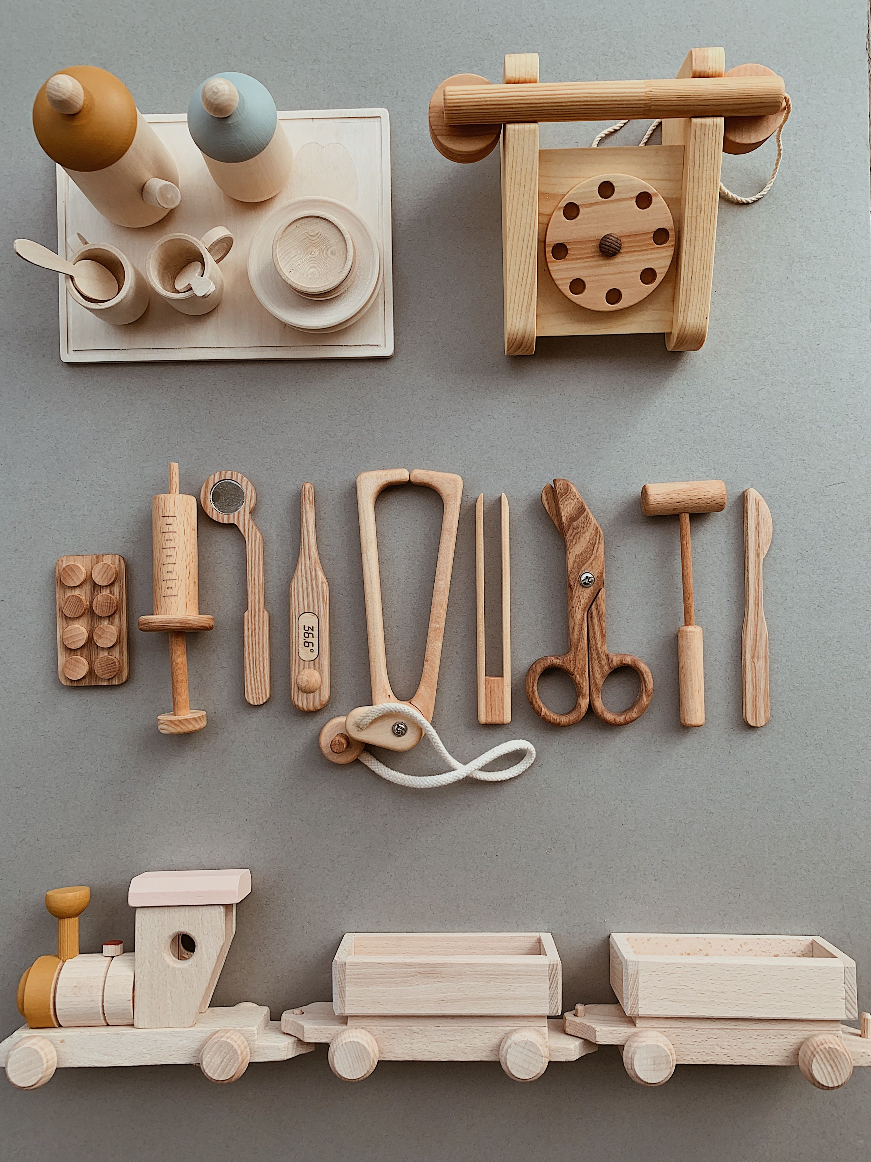 Handcrafted, ethical, natural wooden toys - online store Happy Little Folks