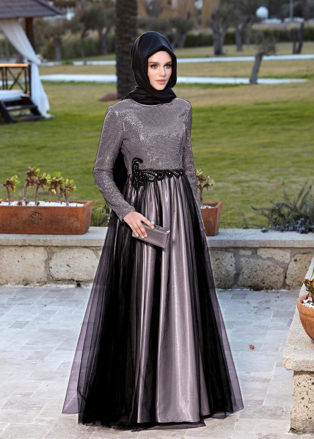 Tesettur Payetli Mezuniyet Elbiseleri Musluman Modasi Mezunlar Gecesi Elbiseleri The Dress