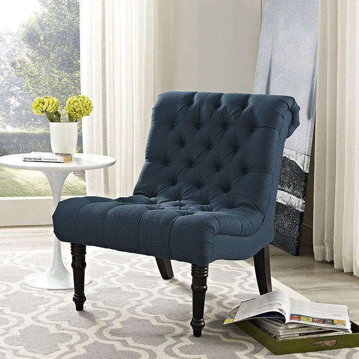 Navigate Slipper Chair Fabric Lounge Chair Furniture