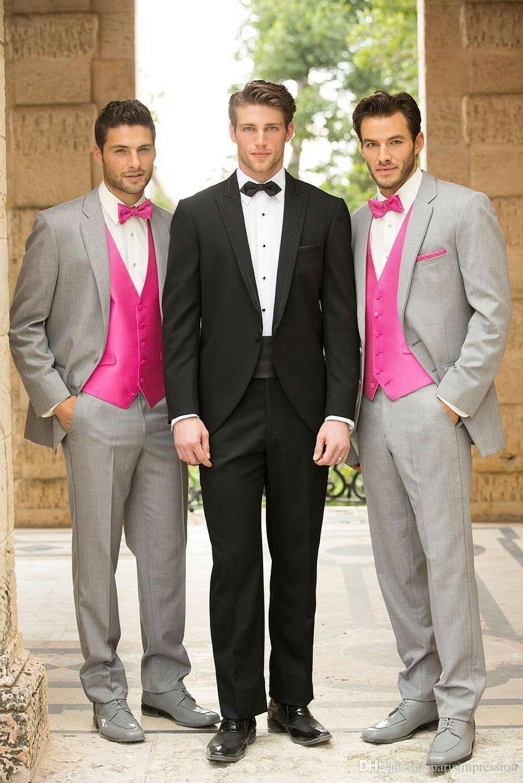 men's light grey pink shirt wedding suit ideas   prom in 2018
