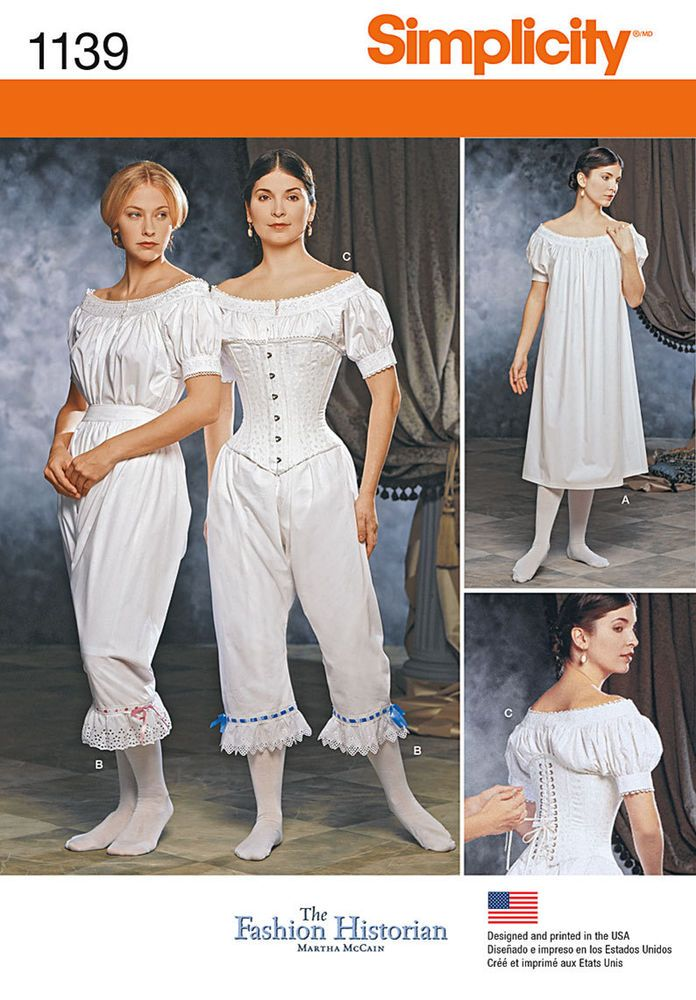 Simplicity 1139 1860s Victorian Steampunk Cosplay Costume Sewing