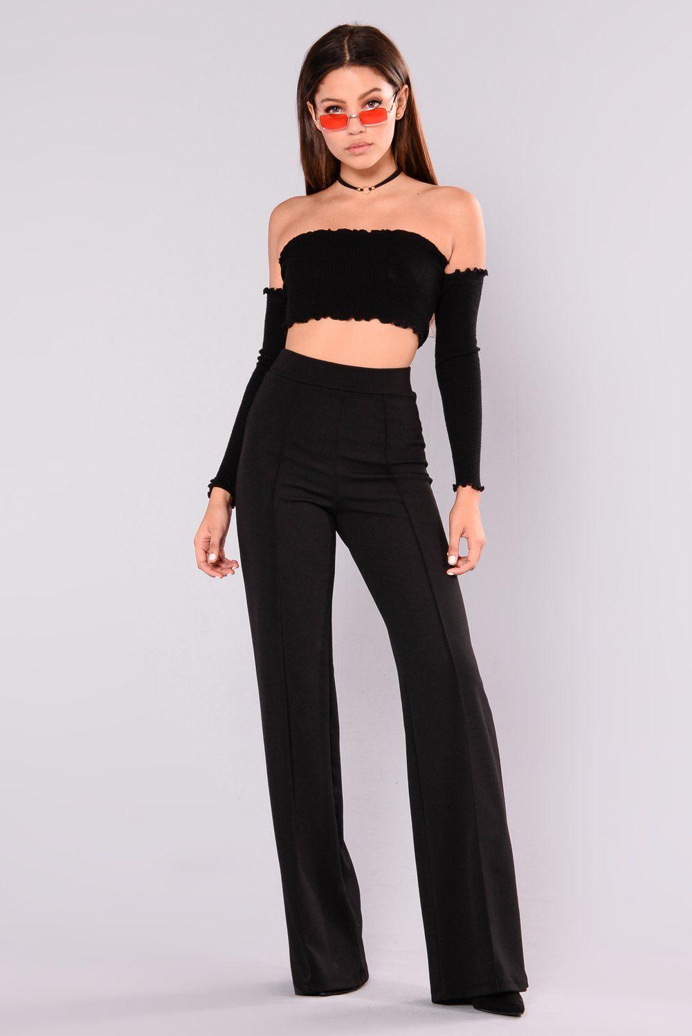 Victoria High Waisted Dress Pants Black High waisted