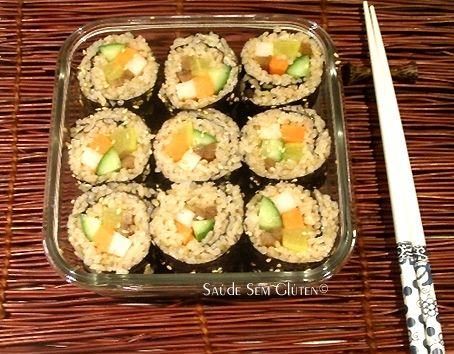 Saúde Sem Glúten: Sushi de Arroz Japonês Integral