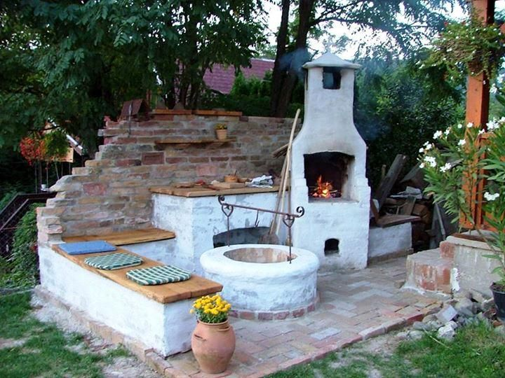 Hungarian Bbq Amp Bogracs Setup Outdoor Oven Backyard Outdoor Wood
