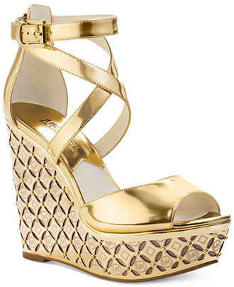 fde248211313 michael kors wedge sandals macy s Sale