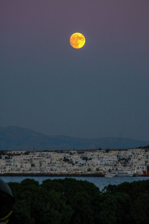 Full moon over Paros