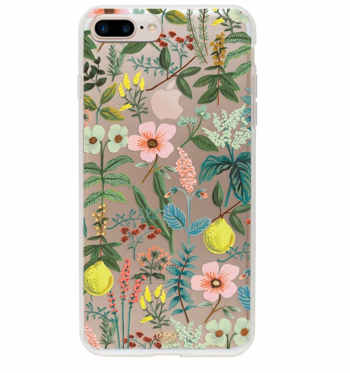 Rifle Paper Co iPhone  Plus Protective Clear Herb Garden Phone Case