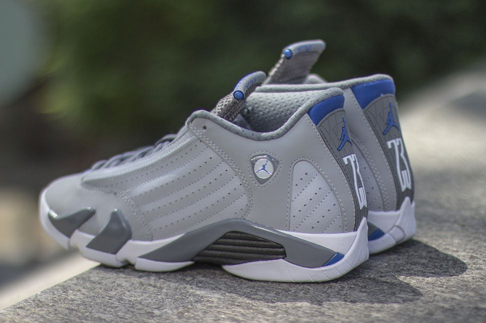 low priced 456c8 06832 ... silber basketball schuhe 807511070 associate degree australia air jordan  14 retro sport blue releasing eu kicks sneaker 83b87 2efab ...