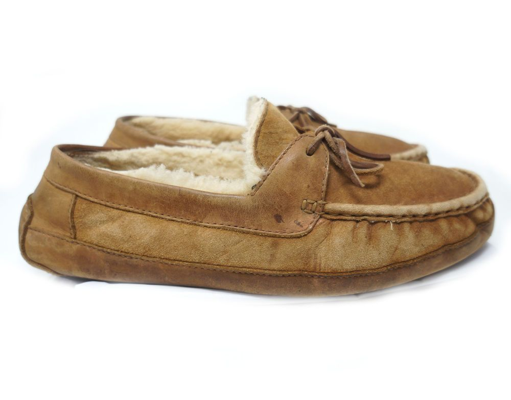 a7599dc4a7c Uggs Australia 5102 Byron Moccasin Slippers Men US 13 Distressed ...