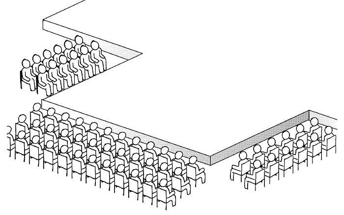 Audience Seating For Thrust Stage Theatre Structure Plan Pinterest
