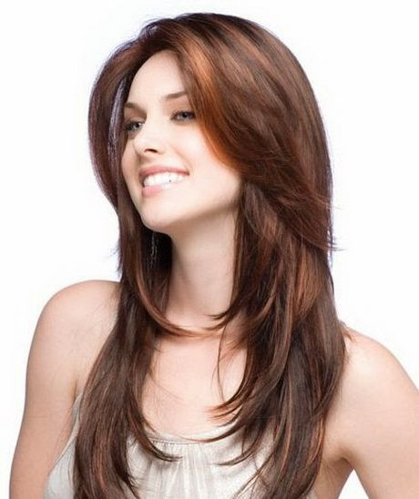 Photo de coupe de cheveux long femme