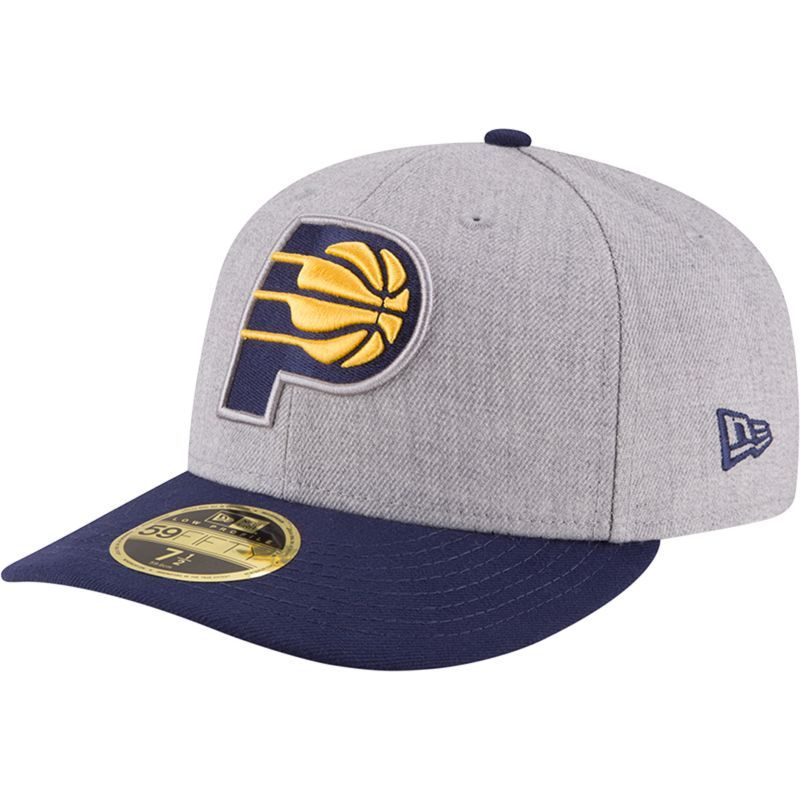 promo code 9479d 4d6f4 New Era Men s Indiana Pacers 59Fifty Low Crown Grey Fitted Hat, Size  7  1 2, Team