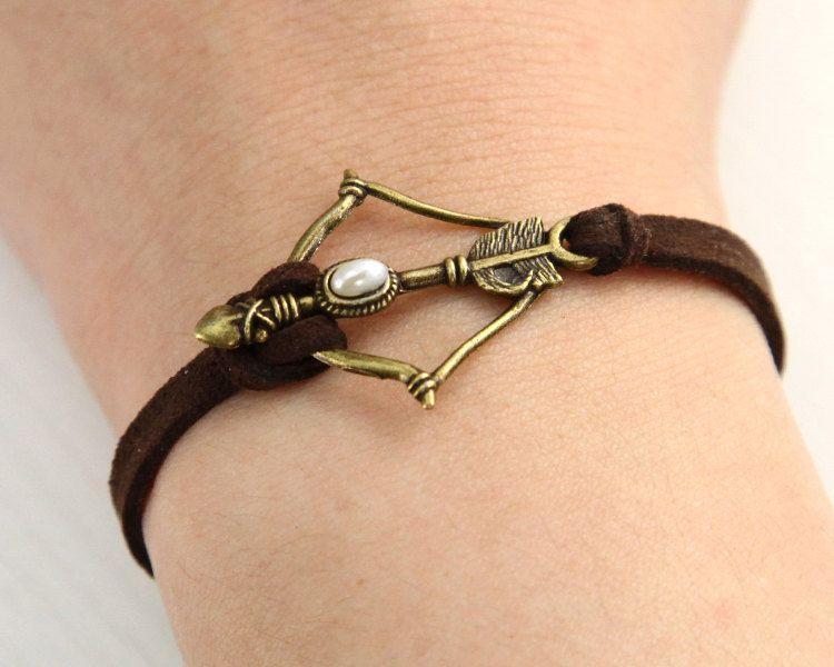 Disney Brave Inspired Merida Bow leather bracelet. $2.99, via Etsy. Just take away the Brave connotation. I will go with Robin Hood, Legolas, Hawkeye,Katniss...just.please.no...no Merida.
