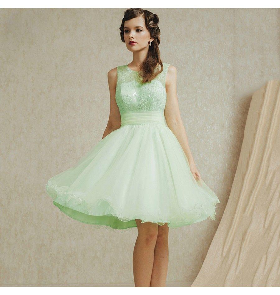 Günstiges brautjungfer kleid mint günstige damenmode online kaufen