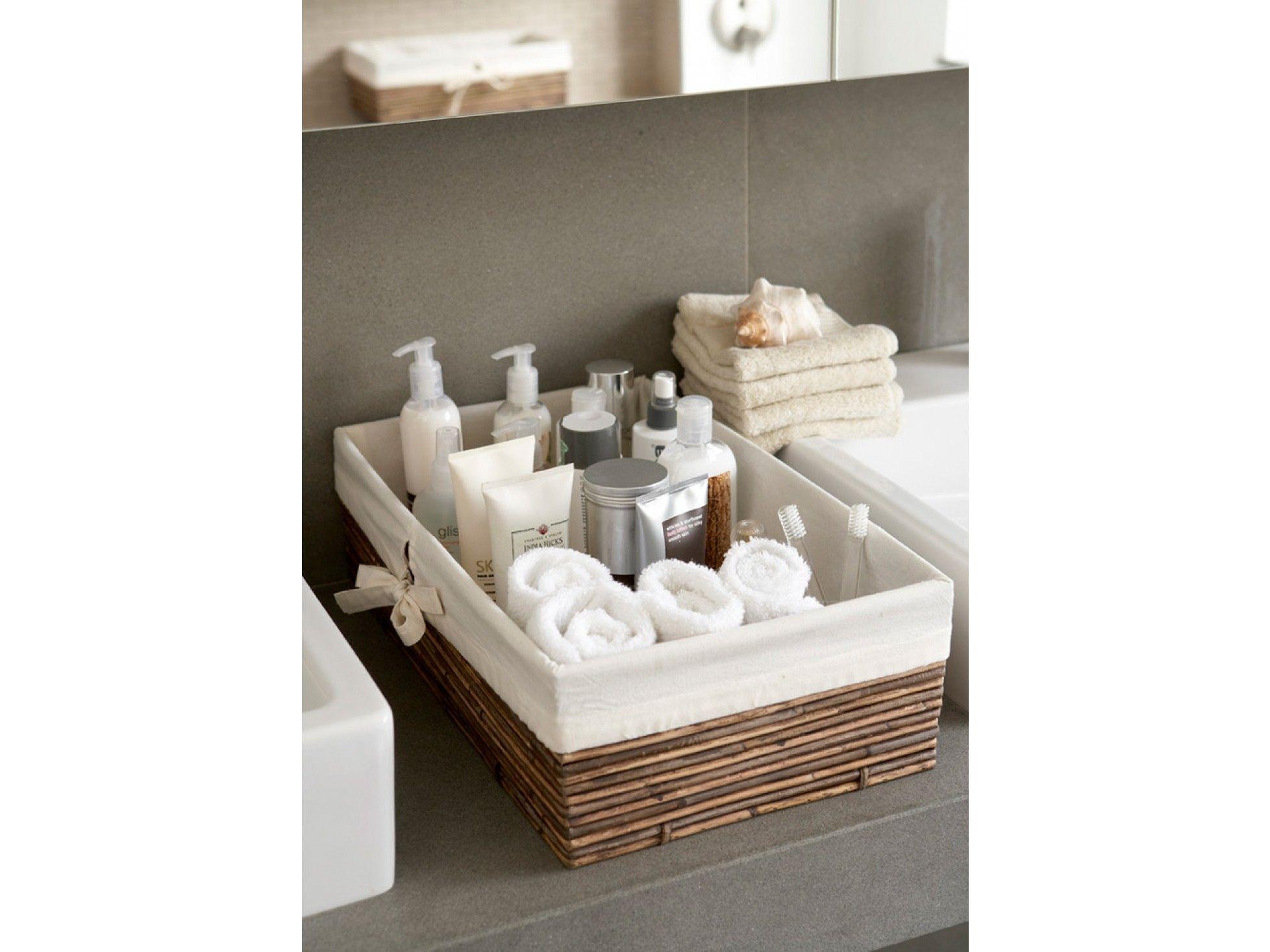 Shallow Lined Kobu Basket | Bathroom Upgrades | Pinterest | Shallow ...