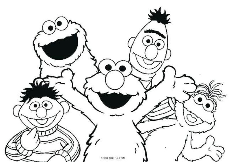 Elmo Coloring Pages Free