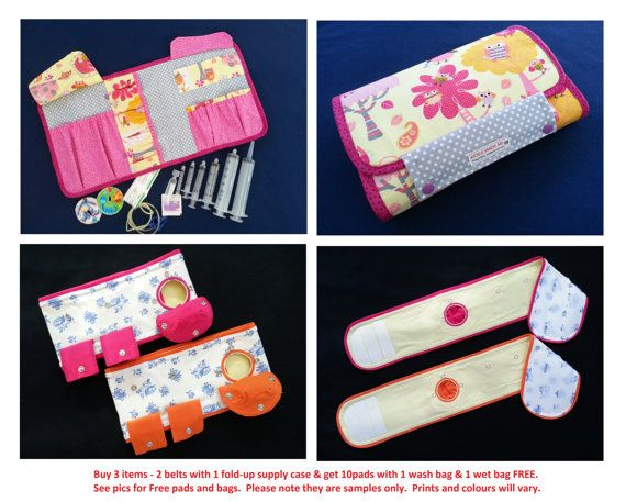 FREE pads with wash bags, G-Tube Belt, Belly Belt, Mic-key button, G ...