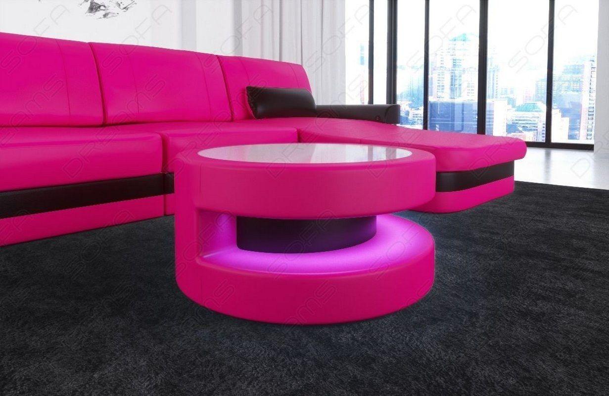 Der Elegante Couchtisch Modena Besitzt Ein Modernes Als Auch Ansprechendes Design Aus Hochwertigem Leder Ist Dieser V Couchtisch Couchtisch Rund Sofa Tisch